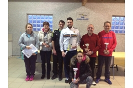 Les lauréats du tournoi interne joyeuse laurac 2017